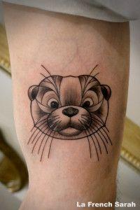 Otter Tattoo, Tatouage Loutre, La french Sarah