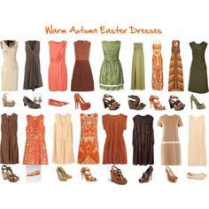 Warm Autumn Easter Dresses