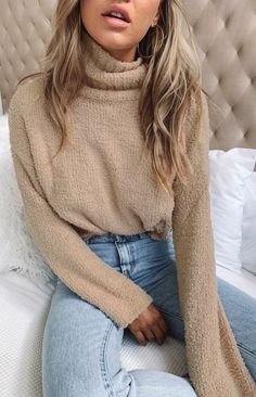 Rollkragenpullover - Trend Hair Makeup And Outfit 2019 Winter Outfits For Teen Girls, Winter Mode Outfits, Winter Fashion Outfits, Look Fashion, Autumn Winter Fashion, Casual Outfits, Cute Outfits, Womens Fashion, Fashion Trends