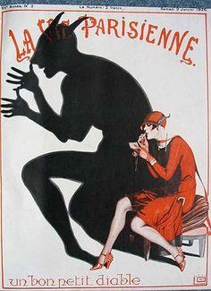 """• L'ALTRA METÀ... DELL'INFERNO / sessista o meno è un'idea, anzi un chiodo fisso per qualcuno [affiche """"La Vie Parisienne"""" (1926)]"""