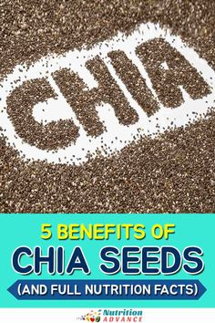 A guide to the benefits of chia seeds alongside the full nutrition facts for the seeds. #chia #seeds #nutrition Nutrition Articles, Diet And Nutrition, Hemp Seeds, Chia Seeds, Lchf, Keto, Salvia Hispanica, Randomized Controlled Trial, Nutritional Value