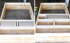 Learn how to build a DIY rustic bookshelf with crates and reclaimed pallets with this tutorial and free building plans by Jen Woodhouse. Woodworking Table Plans, Router Woodworking, Woodworking Projects, Router Jig, Fine Woodworking, Rustic Bookshelf, Crate Bookshelf, Wood Shelves, Pallet Crates