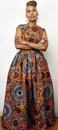 N D O T O Belle Maxi Skirt is made from beautiful Vlisco Dutch wax, soft gatheri. - N D O T O Belle Maxi Skirt is made from beautiful Vlisco Dutch wax, soft gathering at waist, high waist band, fully lined skirt. African Dresses For Women, African Print Dresses, African Attire, African Wear, African Fashion Dresses, African Women, African Prints, African Style, African Fashion Designers