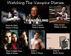 Watching The Vampire Diaries Meme