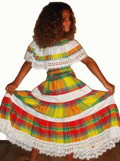 Robe Fille fille 2-16 ans créole, antillais Chimène - Dodyshop