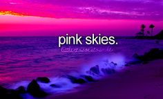 Pink sky in the morning, sailors take warning. Pink sky at night, sailors delight