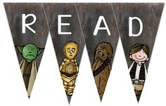 O Reads Books: Jumping on the Bandwagon Fangirl Bunting Theme Star Wars, Star Wars Decor, Star Wars Party, Class Decoration, School Decorations, School Themes, School Ideas, Reading Themes, Reading Day