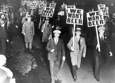 """""""WE WANT BEER"""" A 1931 march to end Prohibition."""