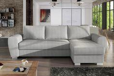 Klasická šedá rohová sedačka s rozkladem Filippo   Sleva 35% Sofa, Couch, Furniture, Home Decor, Settee, Settee, Decoration Home, Room Decor, Home Furnishings