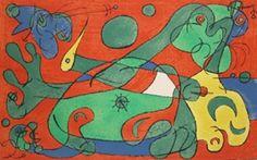 "Limited Edition Print ""Ubu Roi 1966"" by Joan Miro"