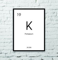 Review isotopes and nuclear symbols with this sample problem periodic table potassium black and white digital wall art modern minimalist urtaz Images