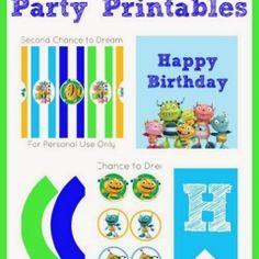Hugglemonster Party Printables #partyprintables