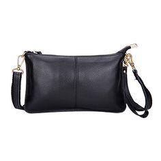 Женская сумка-клатч через плечо, из натуральной кожи
