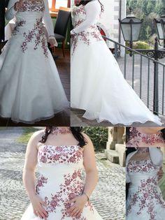 ♥ Hochzeitskleid Gr.42/44 Creme Bordeaux + viele Extras Brautkleid Hochzeit Kleid ♥  Ansehen: http://www.brautboerse.de/brautkleid-verkaufen/hochzeitskleid-gr-4244-creme-bordeaux-viele-extras-brautkleid-hochzeit-kleid/   #Brautkleider #Hochzeit #Wedding