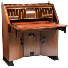 ... Deco secretaire desk by Michel de Klerk, Amsterdam School architect