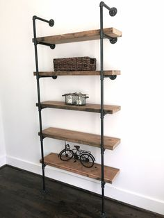 The Bentley Bookshelf Reclaimed Wood Industrial by arcandtimber