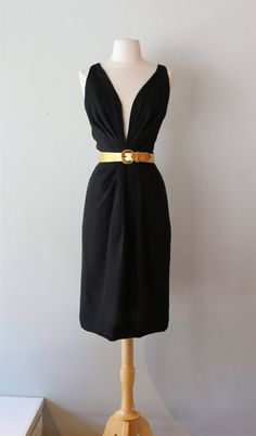 Vintage 1960s S Eisenberg Black Silk Cocktail by xtabayvintage
