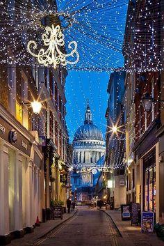 Watling Street & Saint Paul's Cathedral, London