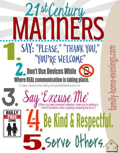 Teach kids/teens basic manners with this fun, interactive lesson and activity. Full lesson, plus game and printable available on family-home-evenings.com
