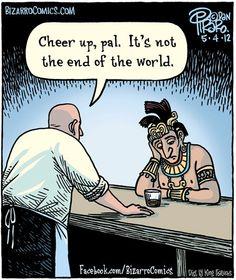 """Lo mejoooooor para cerrar ese día, """"final del mundo"""". Inmejorable imagen."""