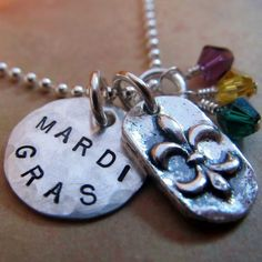 mardi gras necklace- made by my friend Sarah Jane Nelson Milan. Her jewlery company is on Etsy.com called Life is Rosey