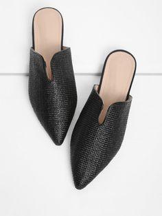 c1229e6d37b Shop Pointed Toe Woven Flats online. SheIn offers Pointed Toe Woven Flats    more to
