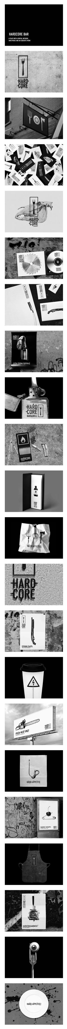 Hardcore bar a little strange but I like it #identity #packaging #branding PD