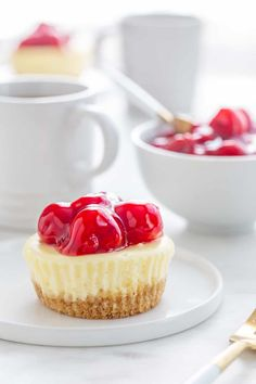 Mini Cherry Almond Cheesecakes are simple, delicious and perfect for entertaining.
