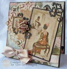 Gloria Stengel as Scraps of Life for G45 using a Ladies Diary paper collection and Spellbinders dies, Feb. 2013