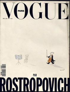Rostropovich par Rostropovich... in French Vogue