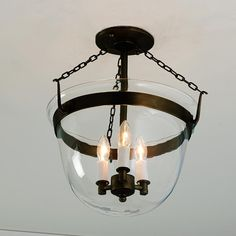 Smokebell Semi-Flush Ceiling Lantern