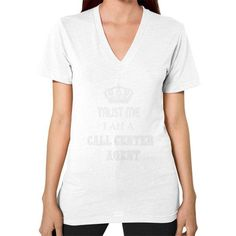 Call center agent V-Neck (on woman)