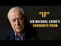 If by Rudyard Kipling - Read by Sir Michael Caine - YouTube Rudyard Kipling Quotes, If Rudyard Kipling, Songs About Dads, Biology Of Belief, Spoken Word Poetry, Well Said Quotes, Kids Mental Health, Life Quotes To Live By, Live Life