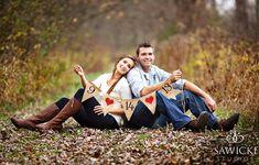 Ahorre el fecha fotos de la boda cartel Banner por butterflyabove