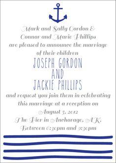 Sail away, sail away, sail away. #weddinginvitations