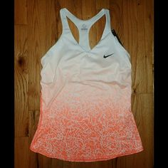 Nike Orange/White Ombre Tank Size M - NWT  Brand new, never worn, no damage. Top is lightly padded as shown.    Smoke-free, pet-free household.    No trades/swaps!   No holds!   No low-balling!   No PayPal!   ✔ Reasonable offers welcomed! Please use the offer button so I know you are serious about the item! I will not respond to price negotiations via comments.  ✔ I love bundling! Not only will you get ONE shipping fee, I will also discount your combined total! Please ask me in the comments…