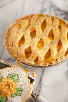 Peach pie.  Fortunately, instructions allow you to use frozen peaches, so you can make it all year!