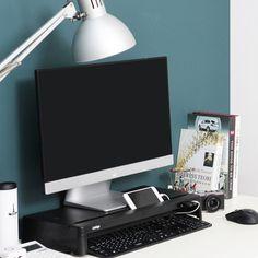 Cyanics i-Bridge Monitor Laptop Stand Slim Universal Monitor Laptop Multimedia Stand with Desk Organizer