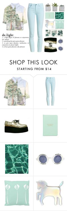 """""""Sometimes, to set the mood just replace the senseless human speech stunning silence of nature, the perfect tranquility of natural sounds of the world!"""" by holly-k15 ❤ liked on Polyvore featuring STELLA McCARTNEY, Barbour, Chanel, WithChic and Pottery Barn"""