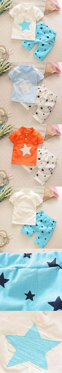 Kids Clothes Boys Summer Style Cheap Infant Children Clothing Set Child Sport Suit T Shirt + Cropped Pants 2pcs Cotton Casual