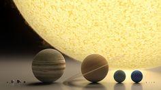 Una aproximación a la escala de los principales elementos de nuestro sistema solar ¿encuentran el planeta Tierra?
