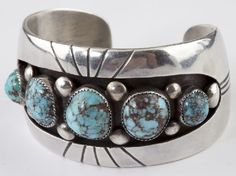Cuff | Frank Patania Sr..  Sterling silver and Turquoise. c. 1960s