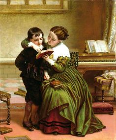 Charles West Cope - George-Herbert-and-His-Mother-xx-Charles-West-Cope