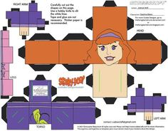 Daphne Blake Cubee by TheFlyingDachshund paper models Daphne Blake, Scooby Doo, 3d Paper Crafts, Paper Toys, Foam Crafts, Origami Templates, Box Templates, Nerd Crafts, The Muppet Show