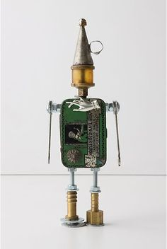 One-Of-A-Kind Found Object Robots at Anthropologie