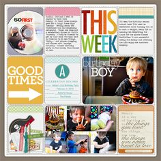 Love the colors and the fonts on this #projectlife page