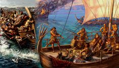 Thousands of years before Blackbeard, Mediterranean pirates prowled the ancient world, raiding ships and eluding pursuers. Until Pompey finally stopped them. Fantasy World, Fantasy Art, Ancient Troy, Pirate Art, Mycenaean, Historical Architecture, Bronze Age, Ancient History, Mythology