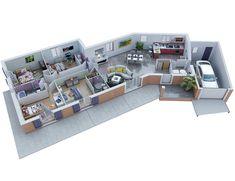 Denah Rumah 465700417709719735 - ecrin rdc bd Source by crissbesse 3d House Plans, House Plans Mansion, Model House Plan, House Layout Plans, Small House Plans, House Layouts, The Plan, How To Plan, Villa Plan