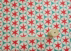 Scandinavian Retro Europen Round Star Patch Style Rainbow Cotton 100% Fabric | eBay