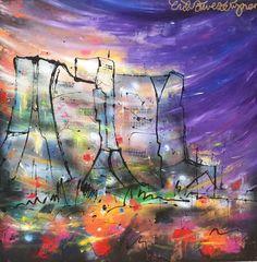 """Hoe mooi kan de kleurige herfst zijn? Zo mooi: Gasunie in het Stadspark, """"Apetrots"""" 100 x 100 cm by Erik Zwezerijnen. www.erikzwezerijnen.com Netherlands, Abstract, Artwork, Painting, Kunst, The Nederlands, Summary, The Netherlands, Work Of Art"""
